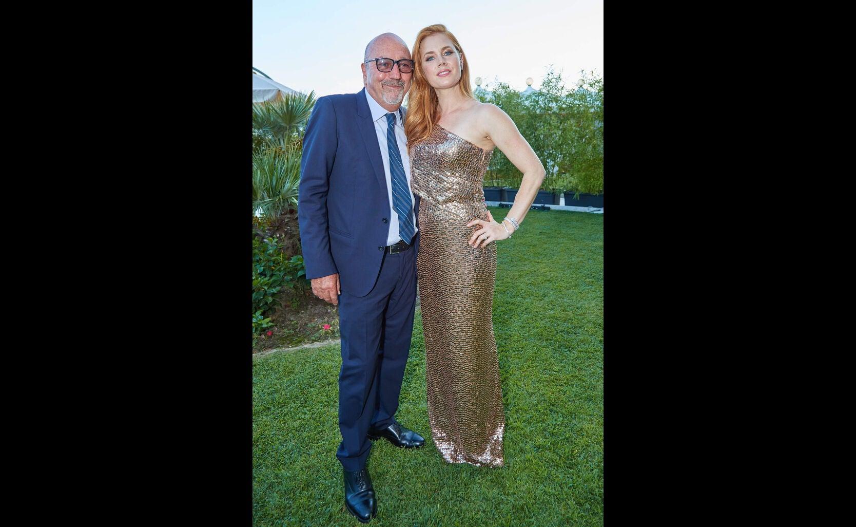 HFPA president Lorenzo Soria, anc Golden Globe nominee Amy AdamsHFPA reception, Venice 2016