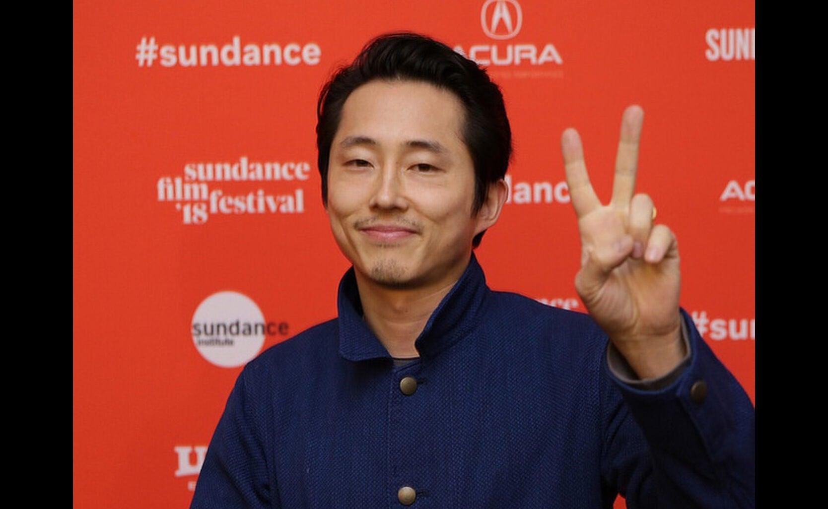 Actor Steven Yeun in Sundance 2018