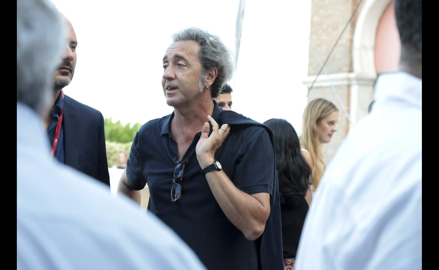 Paolo Sorrentino at the HFPA party, Venice 2019