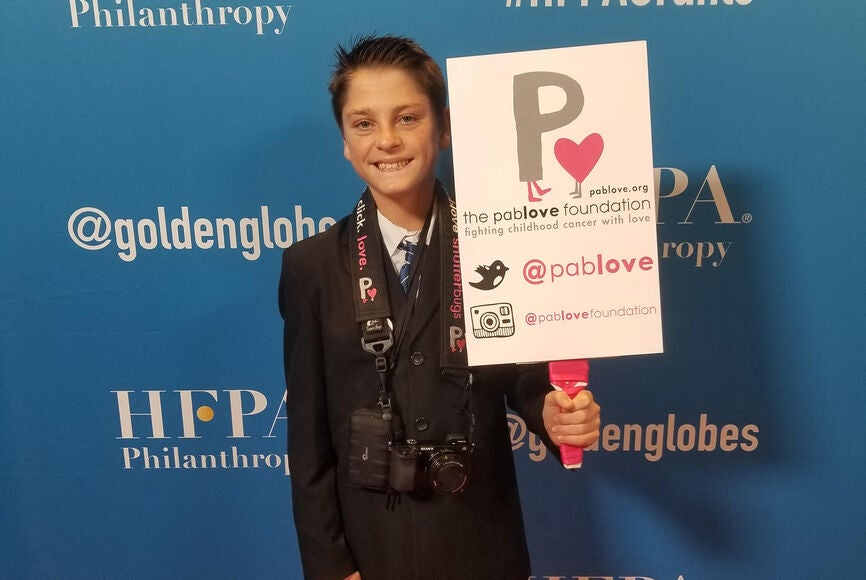 A Pablove photographer at the 2019 Annual Grants Banquet