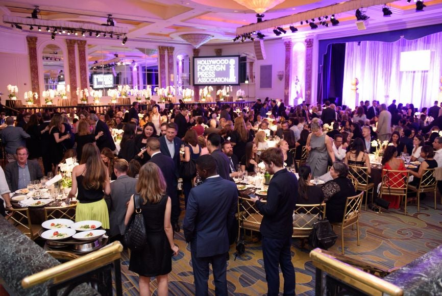 A view of the Wintergarden Ballroom, Beverly Wilshire, during the cocktail preceding the 2016 Annual Grants Banquet