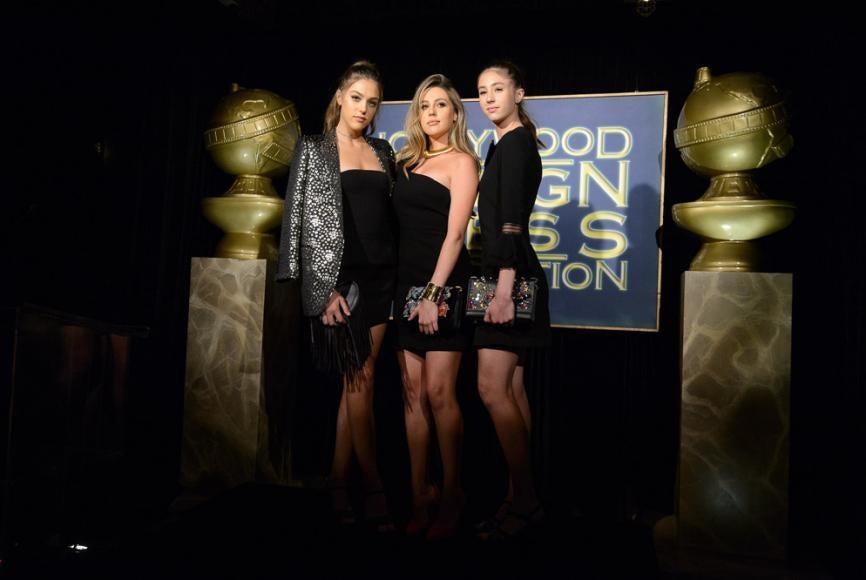 Sophia, Sistine and Scarlet Stallone, Miss Golden Globe 2017