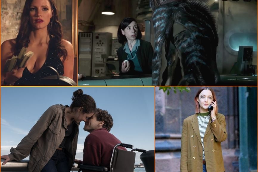 Scenes from some TIFF films: The Shape of Water, Stronger, Molly's Game and Lady Bird