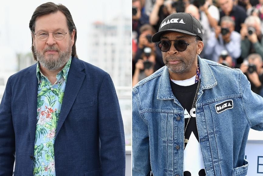 Filmmakers Spike Lee and Lars Von Trier