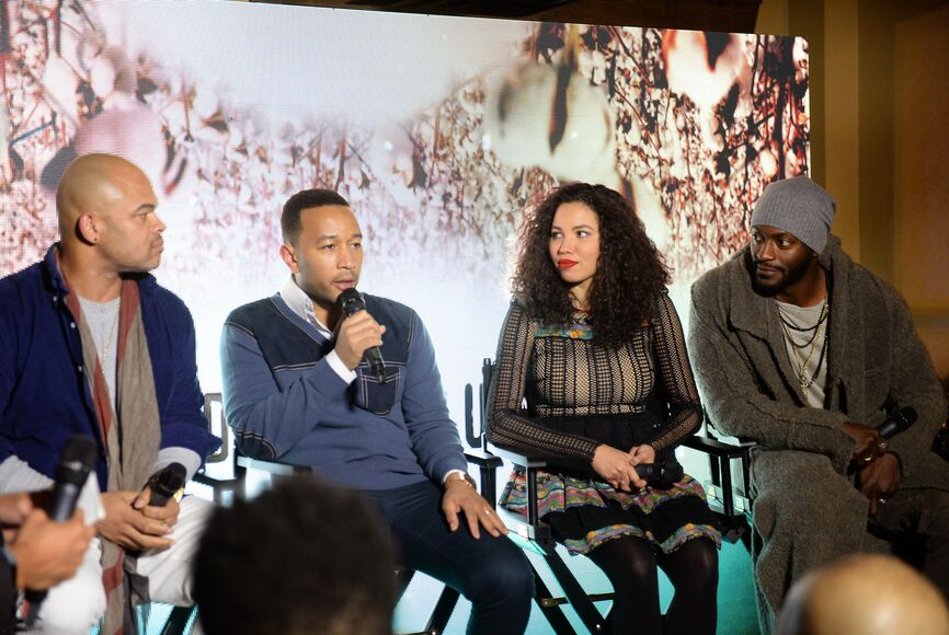 JOhn Legend and the cast and director of the TV series Undergound at Sundance 2017
