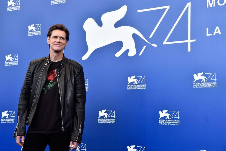 Jim Careyu at the 2017 Venice Film Festival