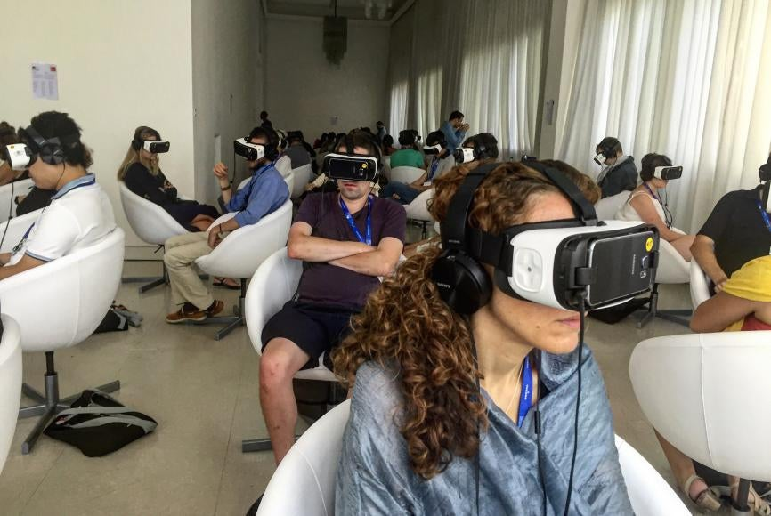 "Viewers immersed in ""VR Jesus"""