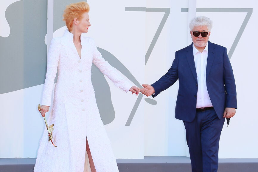 Tilda Swinton and Pedro Almodóvar