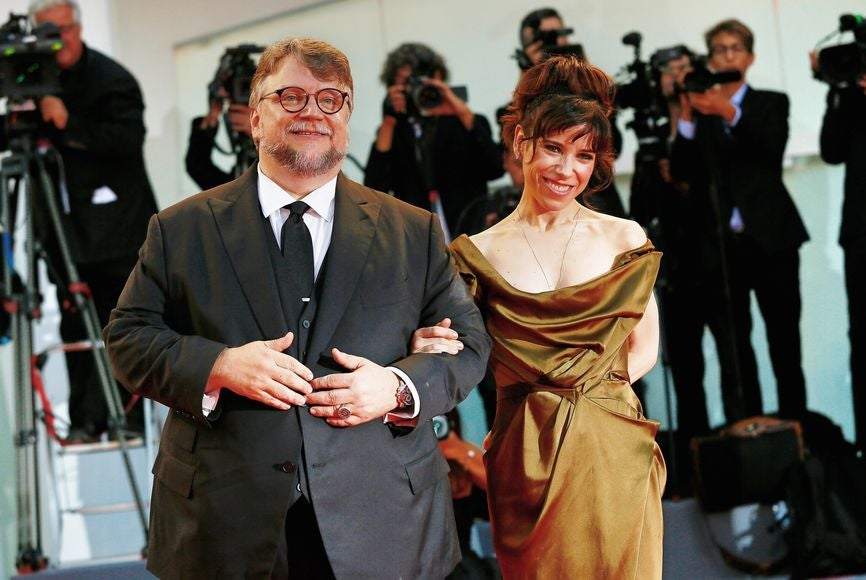 Directro Guillermo del Toro and actress Sally Hawkins at teh 2017 Venice Film Festival