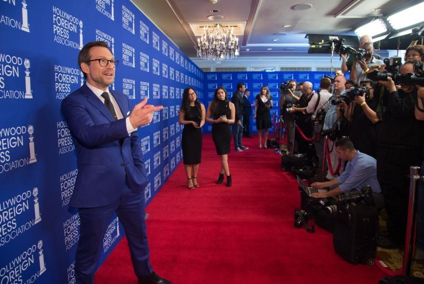 Christian Slater at HFPA Grants Banquet Red Carpet 2016