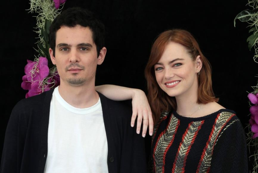 Damien Chazell and Emma Stone