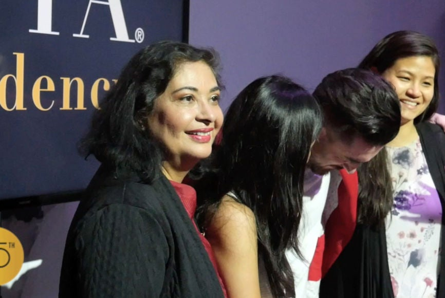 Meher Tatna, President with HFPA Residency Awards Winners