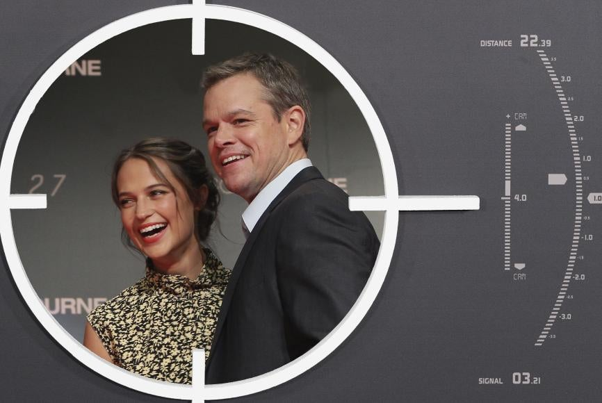 Alicia Vikander and Matt Damon