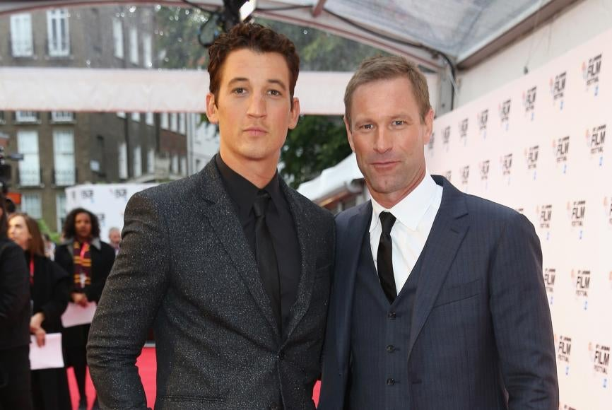 Miles Teller and Aaron Eckhart