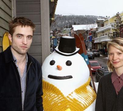 Roberet Pattinson and Mia Wasiskowa at Sundance 2018
