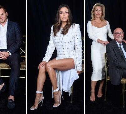 Taron Edgerton, Eva Longoria, Lorenzo Soria with his wife