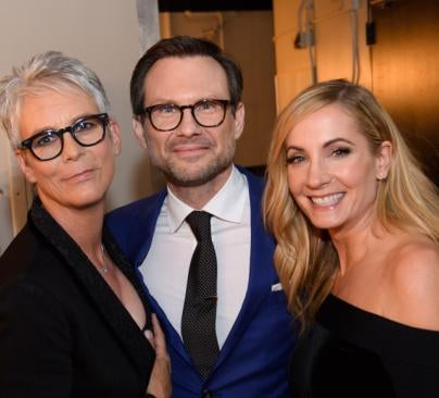 Jamie Lee Curtis, Christian Skater and Joanne Friggatt at the HFPA Grants Banquet 2016