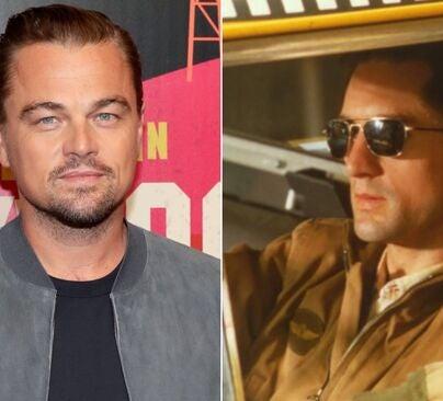 "Leonardo DiCaprio and a scene from ""Taxi Driver"""