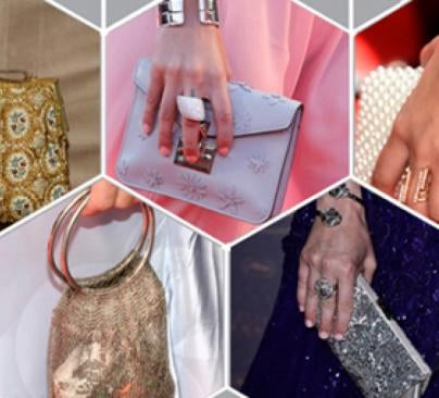 Various red carpet purses