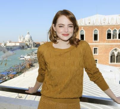 Emma Stone, Golden Globe nominee, in Venice 2016