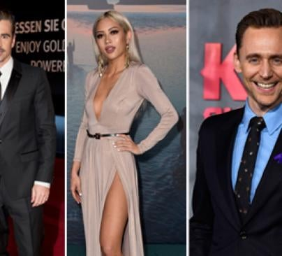 Colin Farrell, Amy Pham and Tom Hiddleston