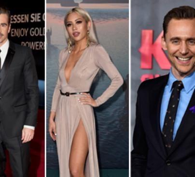 Colin Farrell, Amy Pham and Tom Hiddleston