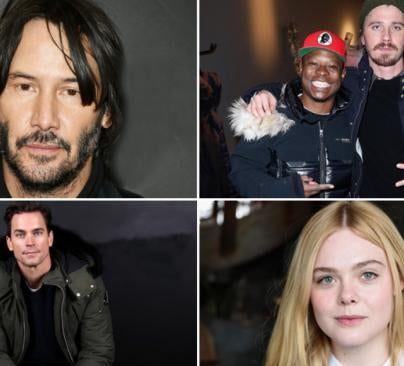 Keanu Reeves, Jason Mitchell, Garrett Hedlund, Matt Bomer and Elle Fanning at 2017 Sundance Film Festival