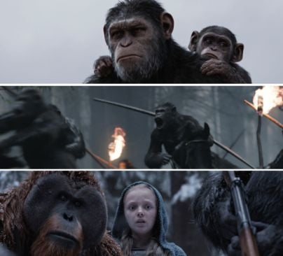 """Scenes fro """"War for the Planet of the Apes"""""""