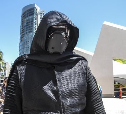 Kylo Ren cosplay at Comic Con 2016