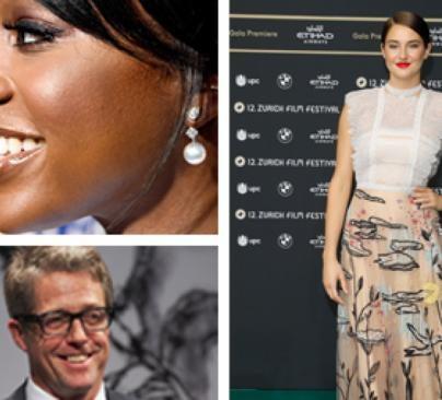 Aja Naomi King, Hugh Grant and Shailene Woodley