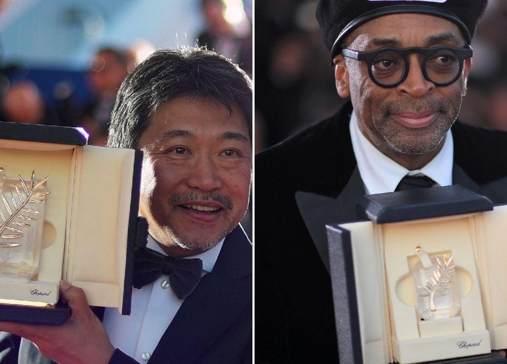 Hirokazu Kore-eda and Spike Lee at Cannes 2018
