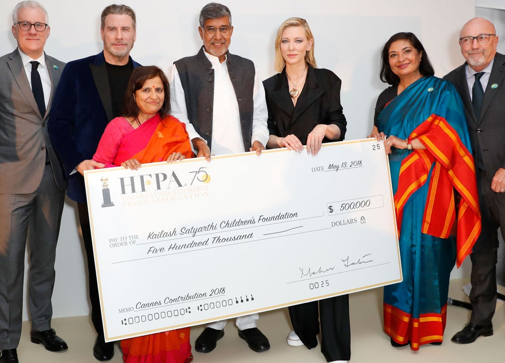 HFPA Supports and Celebrates the Kailash Foundation at Cannes