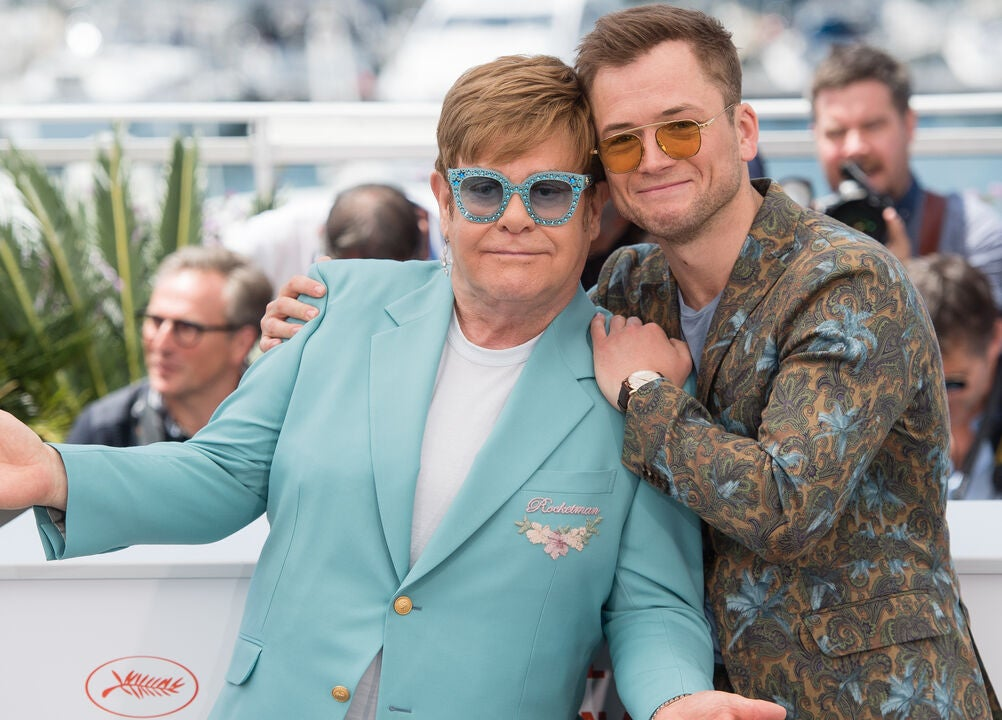 Rockstar Elton John and actor Taron Egerton