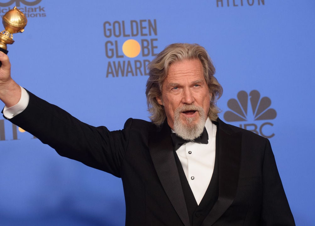 Actor Jeff Bridges, Golden Globe winner, at the 2019 Golden Globes