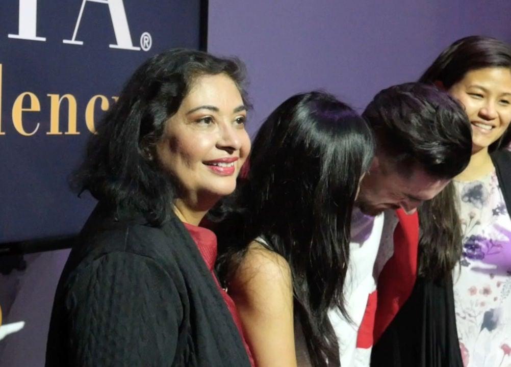 Meher Tatna, President with HFPA Residency Awards Winners