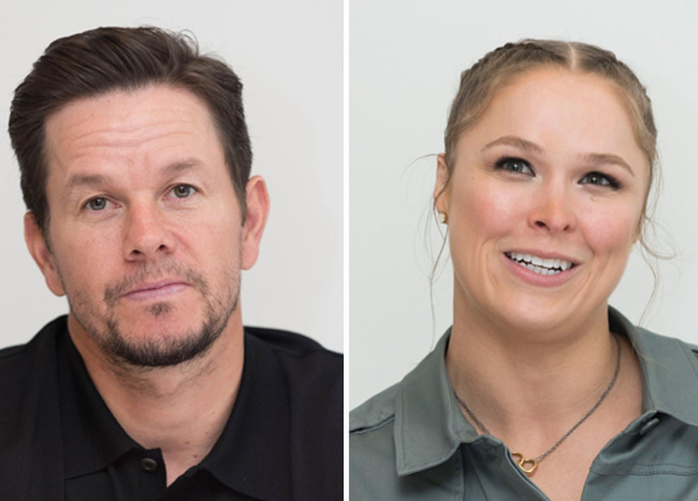 Mark Wahlberg and Ronda Rousey