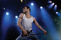 Rami Malek in a scene from Bohemian Rhapsody