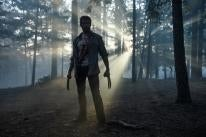 "Actor Hugh Jackman, Golden Globe winner, ina scene from ""Logan"""