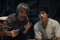 "Ricardo Darín and Chino Darín in ""Heroic Losers"" (2019)"