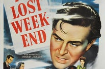 Poster from the Golden Globe winning film The Lost Weekend
