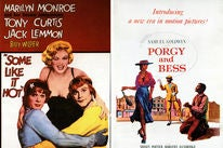 """Movie posters: """"Some Like It Hot"""" and """"Porgy and Bess"""""""