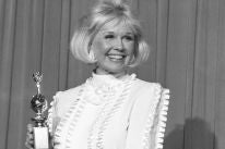 Doris Day and her Cecil B. deMille award, 1989