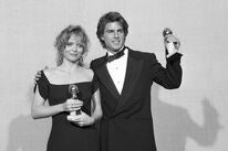 Michelle Pfeiffer and Tom Cruise at the 1990 Golden Globes