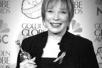 Actress Shirley MacLaine, Golden Globe winner and Cecil B. deMlle revipient