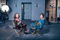 Golden Globe winners Susan Sarandon and Jessica Lange on set of the TV series Feud