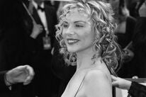 Actress Kim Cattrall at the Golden Globes 2000
