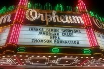 Marquee of the Orpheum Theater, Los Angeles, Last remaining Seats 2017