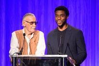 Actor Chadwick Boseman with Marvel creator Stan Lee, 2018