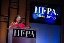 HFPA president Meher Tatna at the 2018 Grants Banquet
