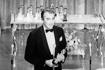 Actor James Stewart, Golden Globe winner, in 1965, with his Cecil B. deMille award